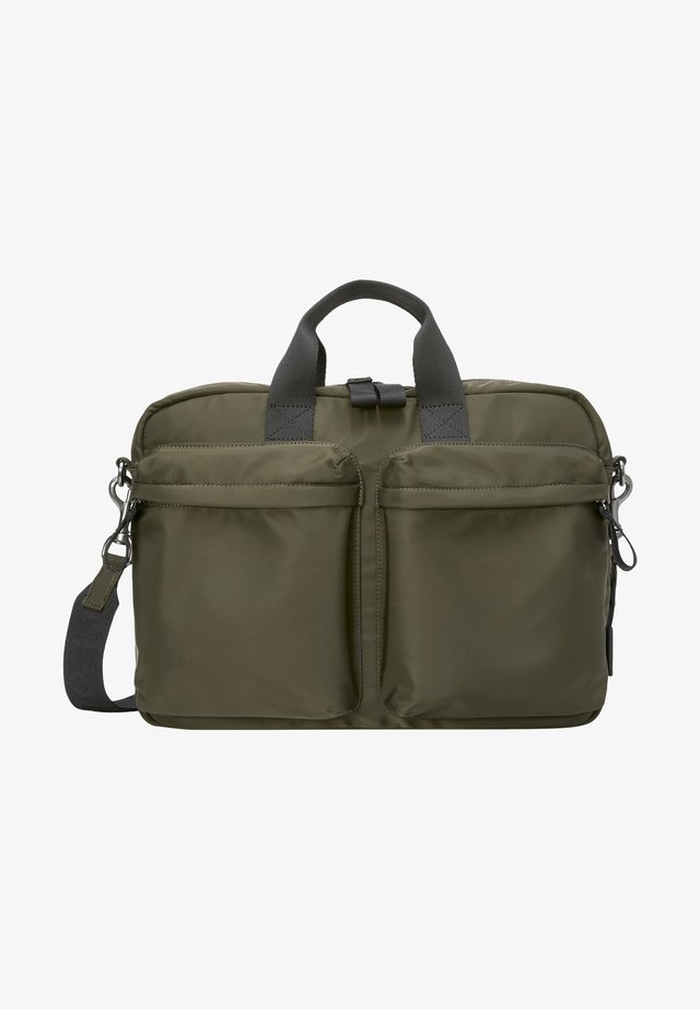 Briefcase - olive green