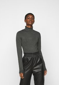 Vero Moda Tall - VMGLORY ROLLNECK - Jumper - dark grey - 0