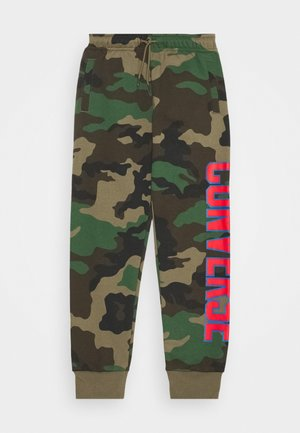 COLLEGIATE CAMO PANT - Trainingsbroek - dusky green