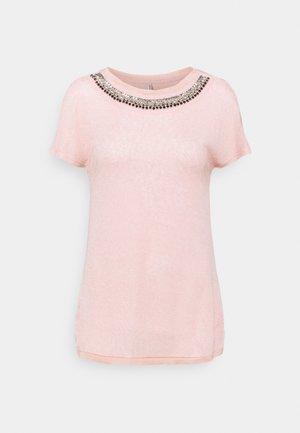 ONLRILEY BLING TOP - Print T-shirt - misty rose/embellishment