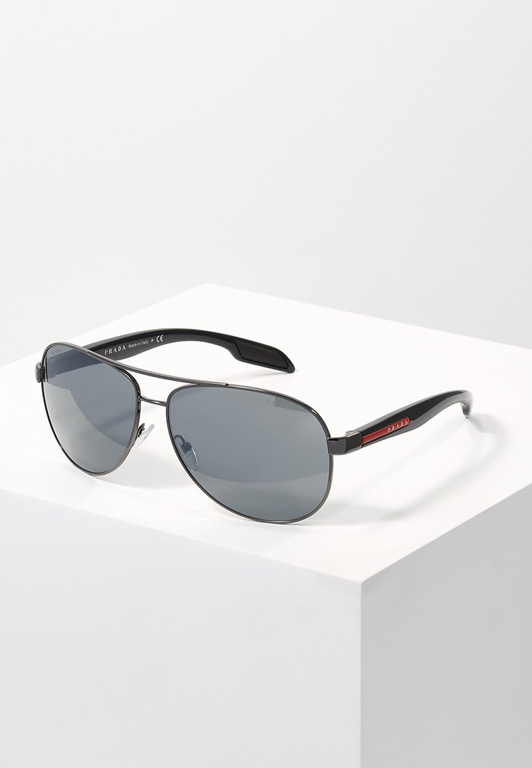 Prada Linea Rossa - LIFESTYLE - Sunglasses - gunmetal/light grey mirror black
