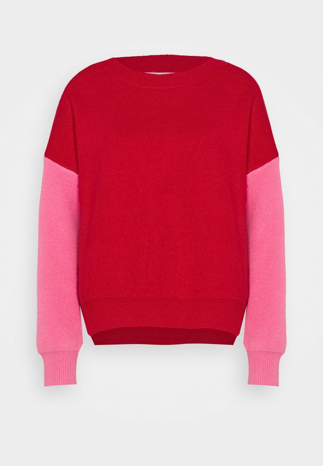 CONTRAST SLEEVE - Maglione - red