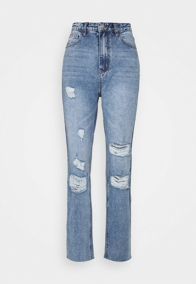 STRAIGHT DISTRESSED - Straight leg jeans - light blue