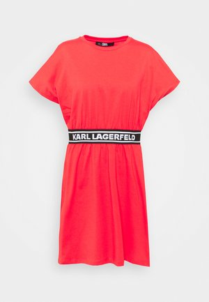 LOGO TAPE DRESS - Jerseyklänning - tangerine