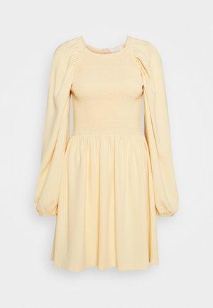 OLIANA SMOCK DRESS - Day dress - soft lemon