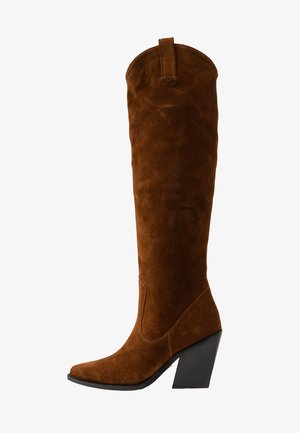 NEW-KOLE - High Heel Stiefel - cognac