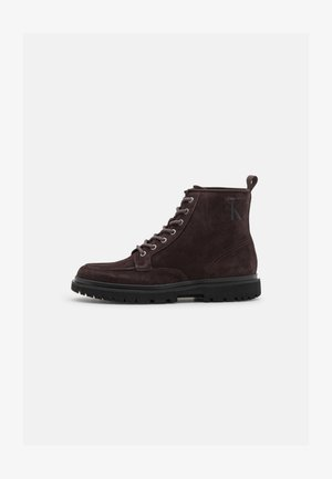 LUG MID LACE UP BOOT - Lace-up ankle boots - dark brown