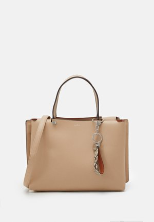 WAWIEL - Handbag - rugby tan/silver-coloured
