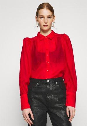 SERENA BLOUSE - Button-down blouse - flame scarlett