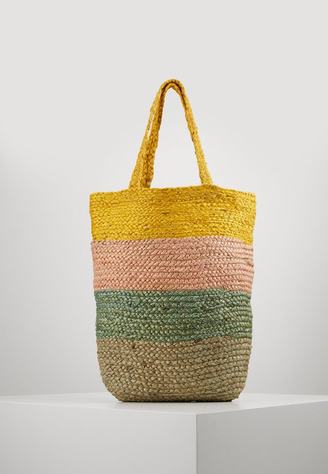 ONLMAJA STRIPED BAG - Shoppingveske - misted yellow