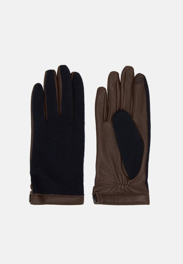 Handsker - dark brown/darkblue