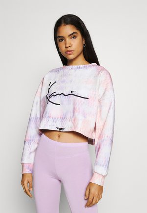 SIGNATURE TIEDYE CROPPED CREW - Sweatshirt - multicolor