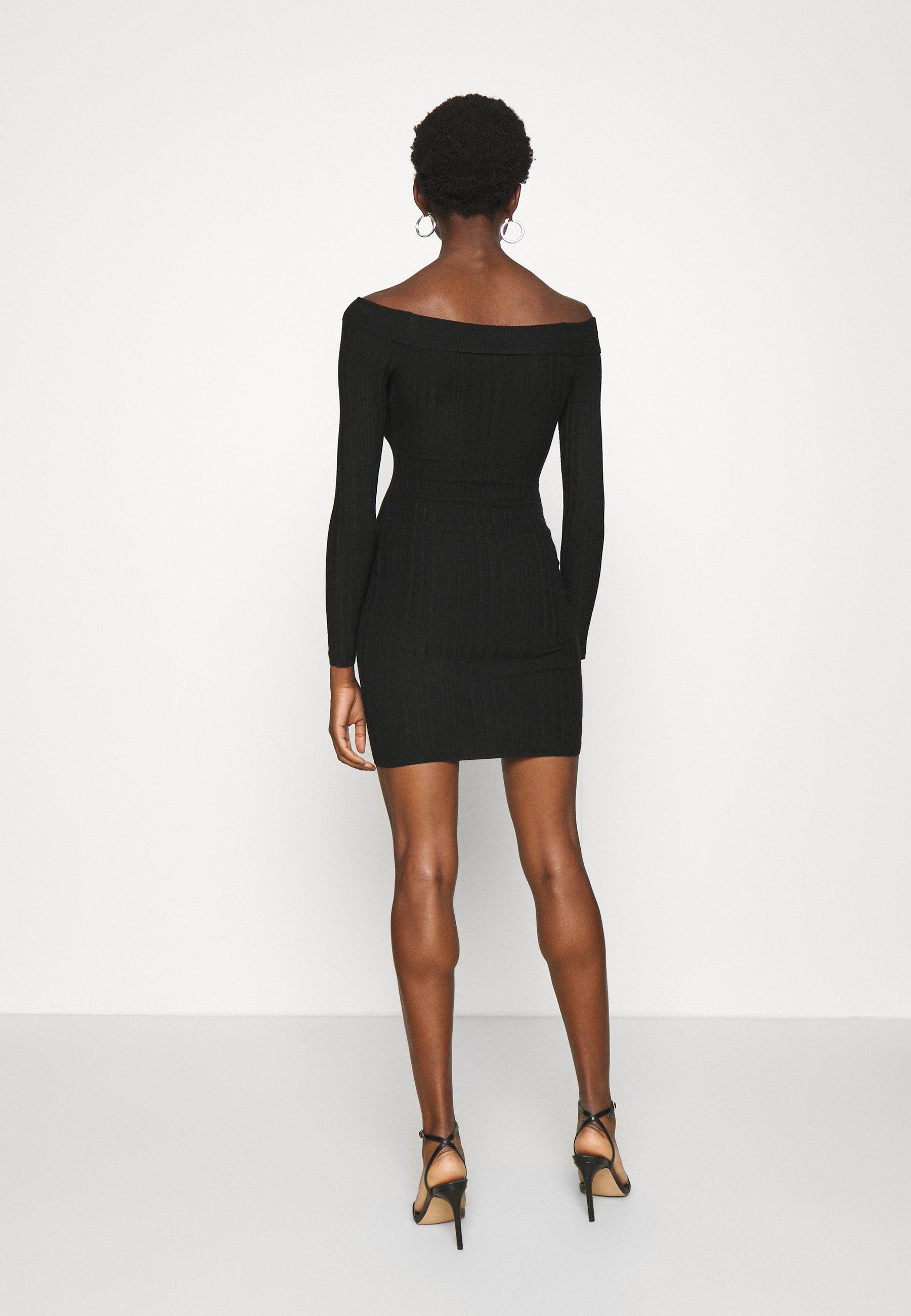 Miss Selfridge Bardot Mini Dress - Etuikjole Black/svart