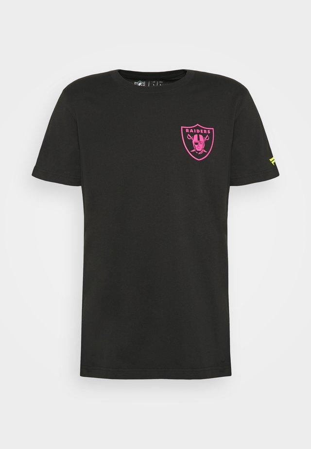 NFL LAS VEGAS RAIDERS HOTEL CALIFORNIA GRAPHIC - T-shirt print - black