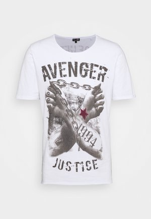 LIBERATE ROUND - T-shirt imprimé - white