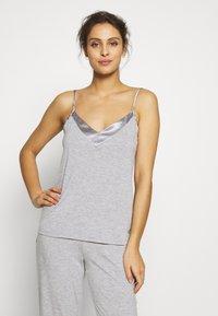 LASCANA - LASCANA SHINY - Pyjama top - grey melange - 0