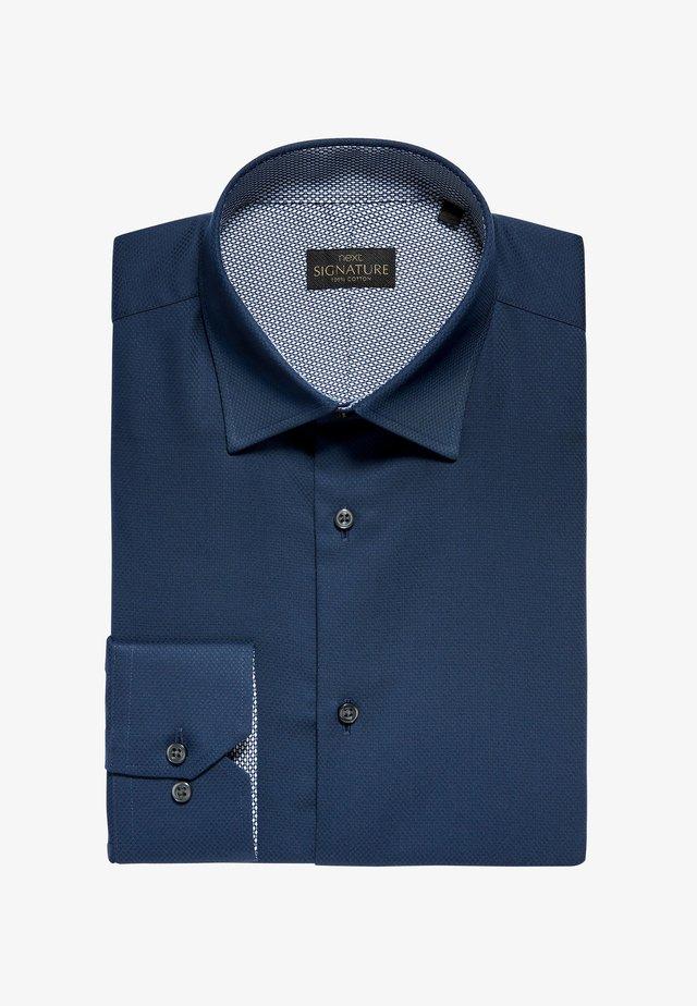 SIGNATURE TEXTURED - Formal shirt - blue