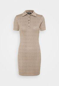 Missguided - BUTTON PLACKET MINI DRESS - Shift dress - brown - 0