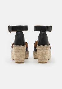 Kanna - CAPRI - Platform sandals - schwarz - 3