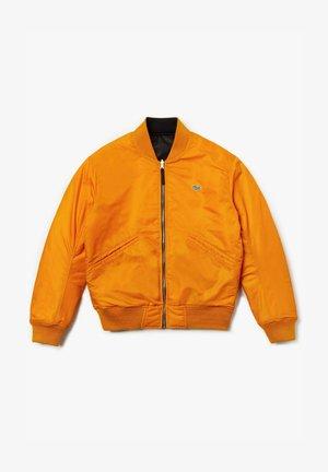 LACOSTE LIVE - BLOUSON HOMME - BH8015 - Bomberjakke - black/orange