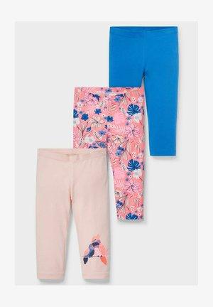 3 PACK - Leggings - Trousers - pink  blue rose