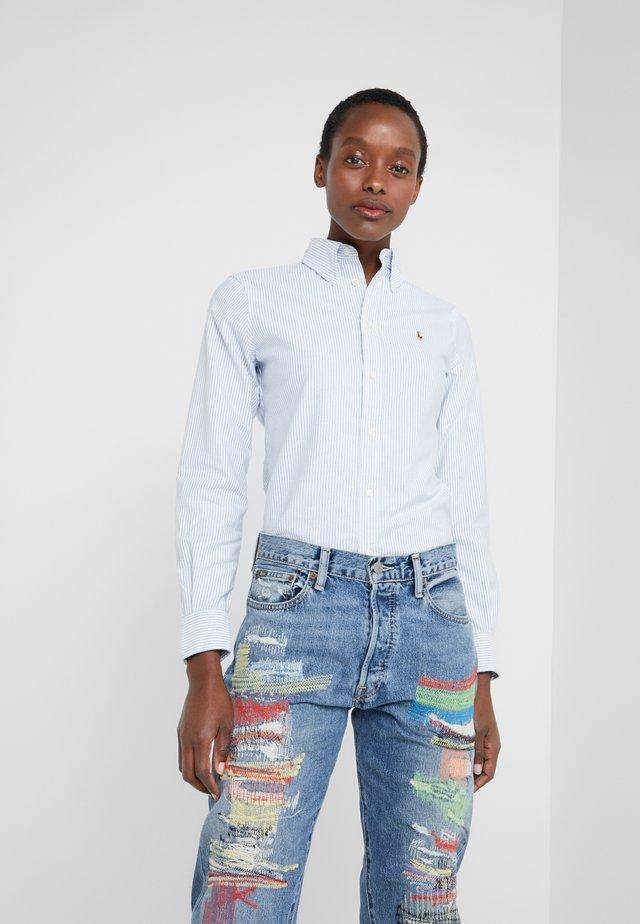 OXFORD KENDAL SLIM FIT - Button-down blouse - blue/white