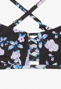 Seafolly - FLORAL CROSS FRONT TANKINI SET - Bikini - black - 3