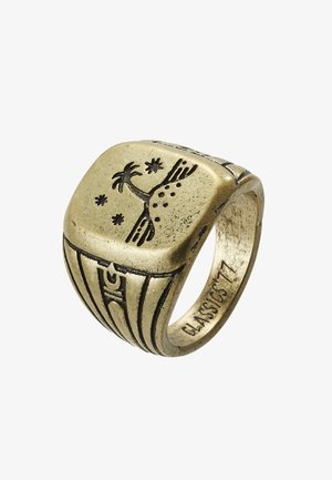 ISLAND TIME SIGNET - Ring - gold-coloured