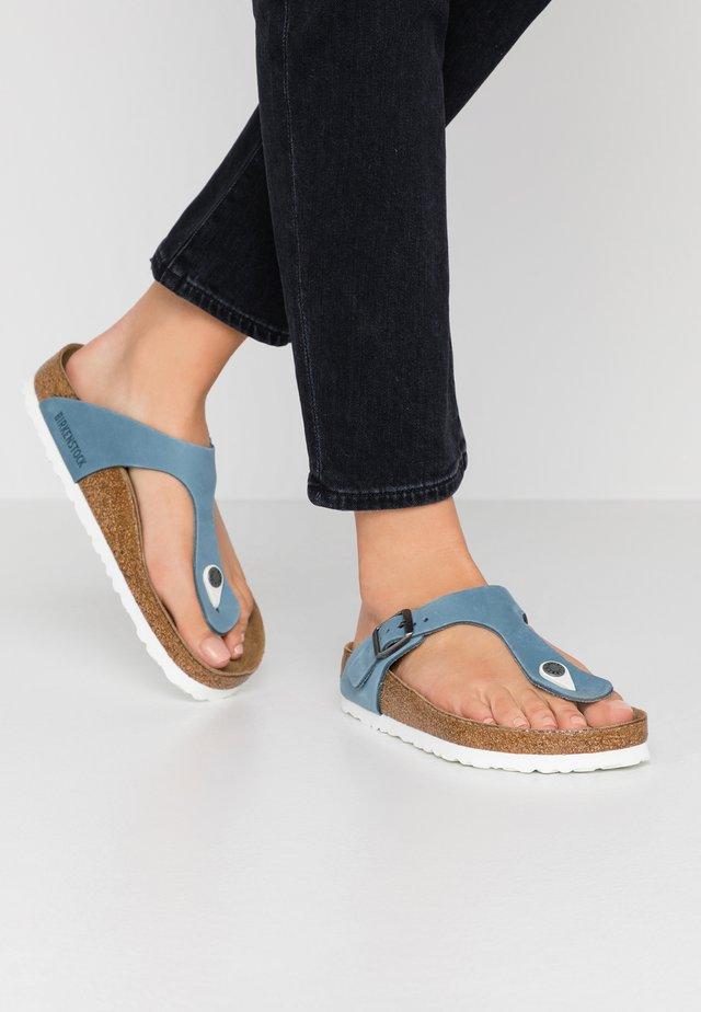 GIZEH - T-bar sandals - blue