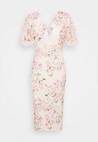 WAL G. - SALUD FLORAL PRINT MIDI DRESS - Sukienka z dżerseju - pink - 4