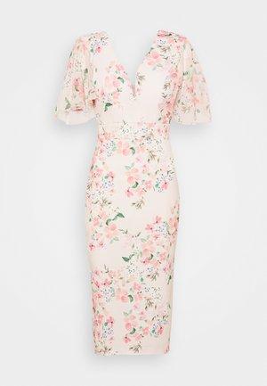 SALUD FLORAL PRINT MIDI DRESS - Jersey dress - pink