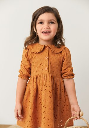 BRODERIE COLLAR - Robe chemise - brown