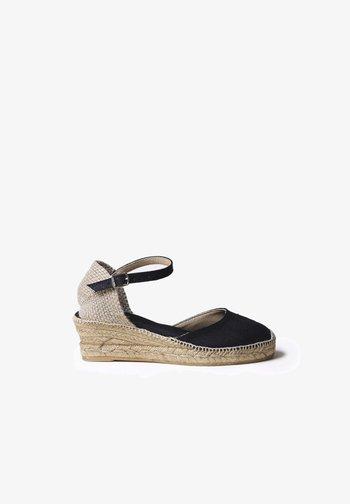 Wedge sandals - negre