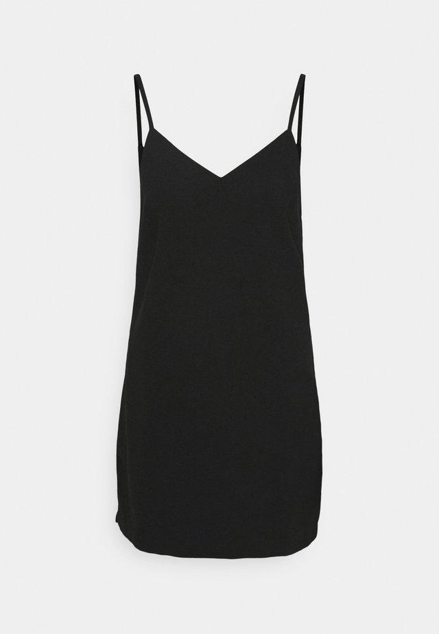 CLASSIC MINI DRESS - Korte jurk - black