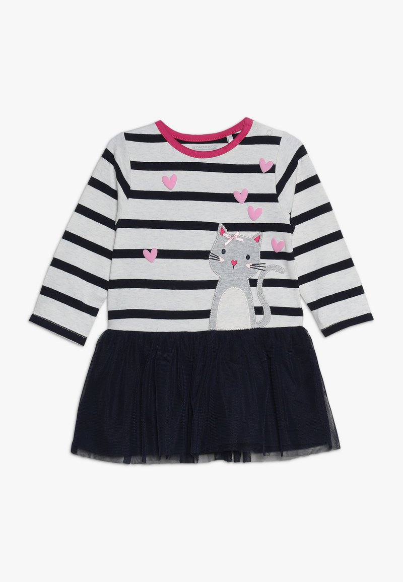 Staccato - BABY - Jersey dress - offwhite melange