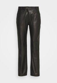 NAOKO - Leather trousers - black