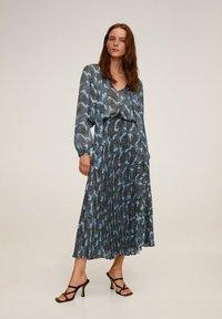 Mango - DENO - A-line skirt - bleu - 1