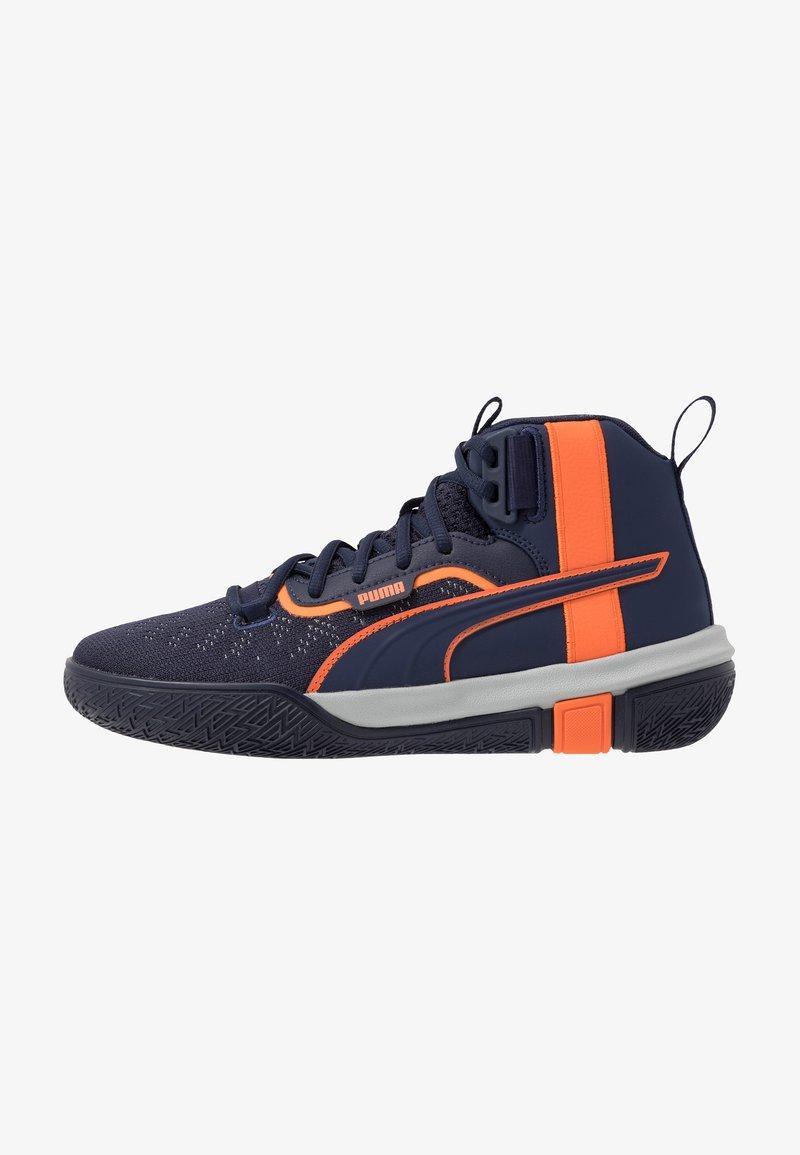 Puma - LEGACY MADNESS - Basketbalové boty - dark blue/orange