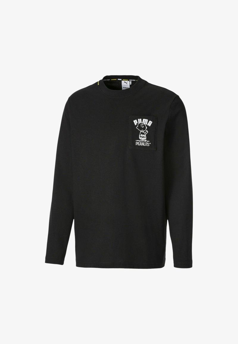 Puma - PEANUTS SNOPPY TEE - Long sleeved top - puma black