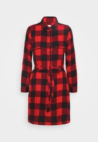 GAP Petite - UTILITY DRESS - Shirt dress - red - 5