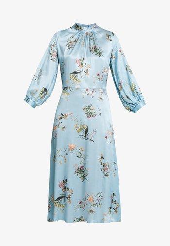 CLOSET GATHERED NECK A-LINE DRESS