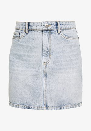 ONLROSE LIFE ASHAPE SKIRT - Falda vaquera - light blue denim
