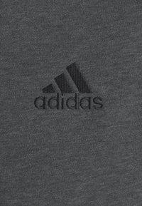 adidas Performance - 3 STRIPES FLEECE FULL ZIP ESSENTIALS SPORTS TRACK JACKET HOODIE - Zip-up sweatshirt - dark grey heather - 6