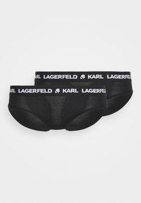 KARL LAGERFELD - LOGO HIPSTER 2 PACK - Briefs - black - 4