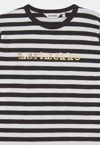 Marimekko - VEDE TASARAITA - Long sleeved top - black/white/gold - 2