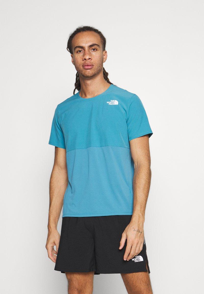 The North Face - TRUE RUN - Print T-shirt - storm blue