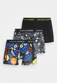 Jack & Jones - JACSUGAR SKULL TRUNKS 3 PACK - Boxerky - black/blazing yellow - 4
