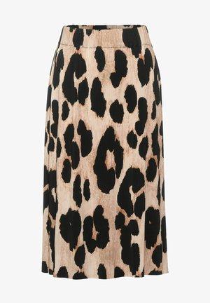 ROCK MIT MUSTER - A-line skirt - beige
