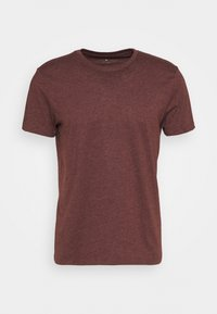 Burton Menswear London - SHORT SLEEVE CREW 3 PACK - T-shirt basic - black/charcoal/burgundy - 1