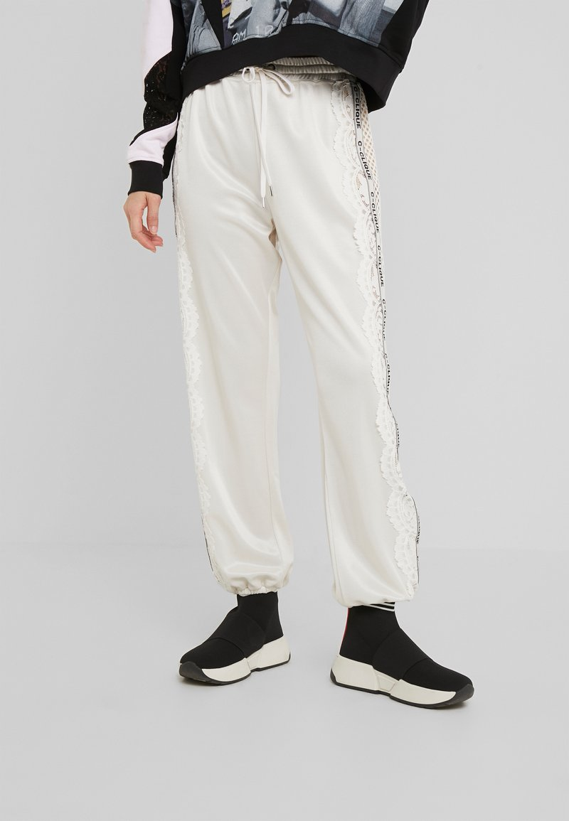 Pinko - WEMBLEY PANTS  - Tracksuit bottoms - white
